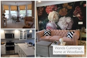 Wanda Cummings enjoyed having home customization options at Woodlands, such as custom wallpaper and chandeliers.