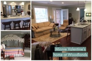 Minnie Valentine has taken advantage of the home customization options at Woodlands