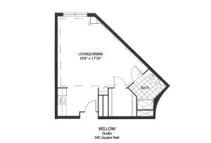 The Willow residence at Woodlands offers a flexible layout with a well-lit, usable living area