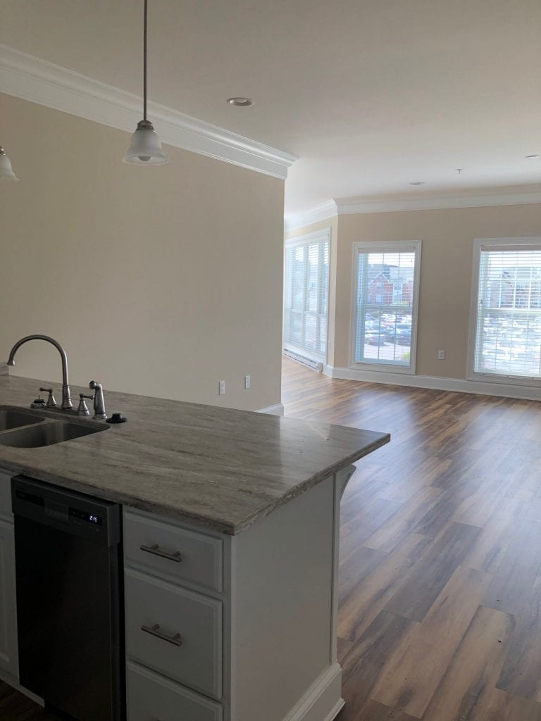The Sycamore residence at Woodlands is a bright, modern apartment home.