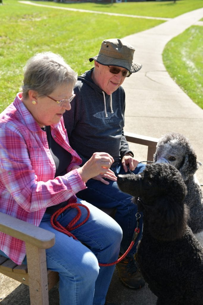 Judy and Rich Dunlap have enjoyed life at Woodlands despite COVID-19